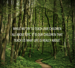 While we try to teach our children