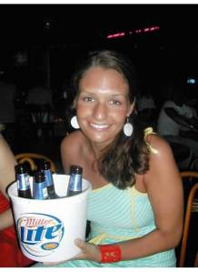 Me and a bucket of beer, as a true life novice at the mere age of 25.